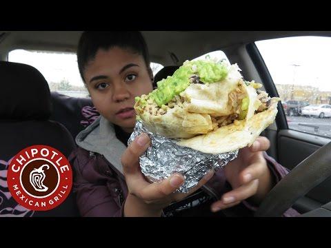 Loaded Burrito, Guacamole, and Chips Mukbang | Chipotle