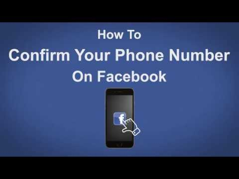 How to Confirm Your Phone Number On Facebook - Facebook Tip #3