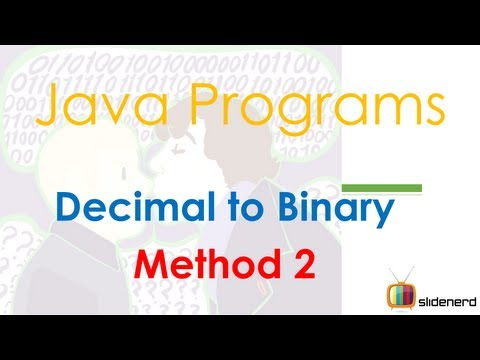 43 Java Convert Decimal To Binary Method 2 |