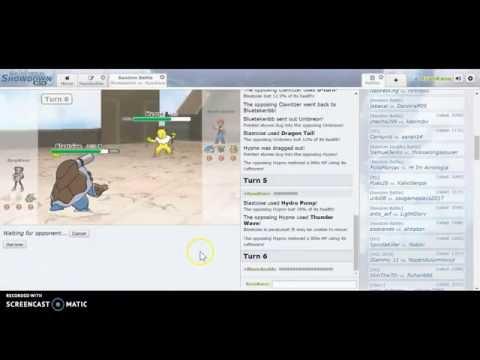 Pokémon Showdown #1 : vs. BlueSkull (Bluetekenbb)