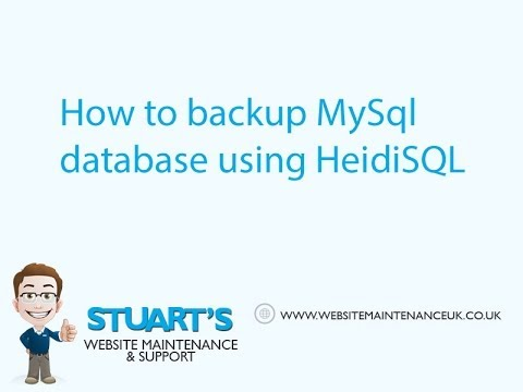 Tutorial : How to backup a MySql database with HeidiSQL