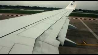 [HD] Ryanair 737 - Amazing Takeoff from Manchester T3 [DSLR 720p]