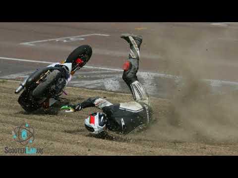 SLUK | Scott Swarbrick scooter racing crash sequence