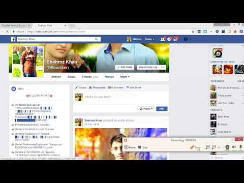 Unfriend All Disabled Accounts From Your Facebook Friend List tutorial