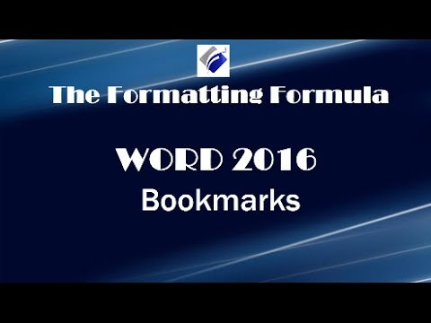 Word 2016   Bookmarks