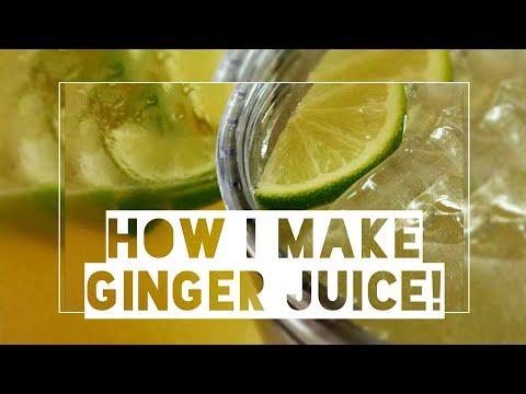 Ginger Juice   No Juicer Needed   WHITwhitLEGIT