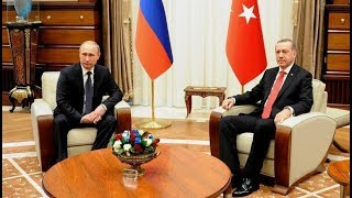 Переговоры Владимира Путина и Реджепа Тайипа Эрдогана. Полное видео