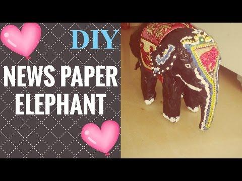 DIY NEWSPAPER ELEPHANT