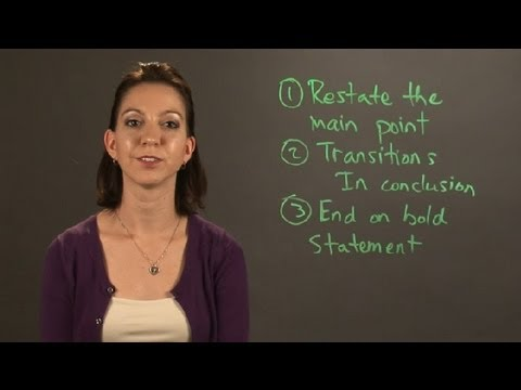How to Create a Concluding Paragraph : English & Grammar