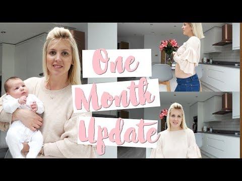 1 Month Baby and Postpartum Update | Feeding, Routines & Postpartum Belly