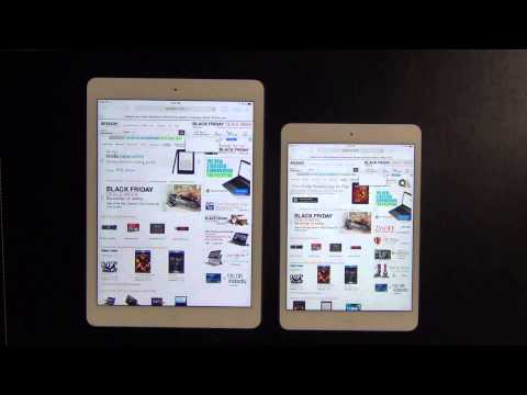 iPad Air vs iPad Mini 2 (Retina Display) Web Browser Speed Test