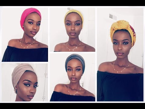 HOW TO STYLE A TURBAN/SCARF | 9 QUICK AND EASY WAYS TO TIE TURBAN/SCARFS