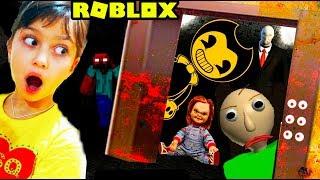 Download ЗАСТРЯЛИ в СТРАШНОМ ЛИФТЕ в РОБЛОКС! Roblox Scary elevator Балди, Бенди, Привет сосед Валеришка kids Video