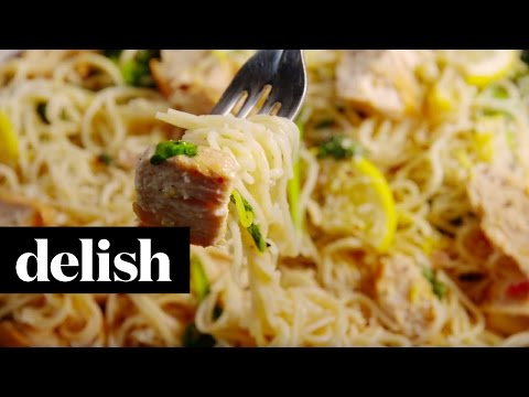How To Make Lemon Butter Chicken Pasta | Delish