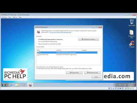 Defragment hard drive on Windows 7