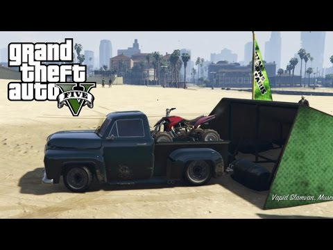 GTA 5 - Mudding & Hauling Four Wheeler With Old Ford Truck