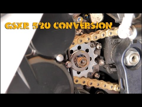 2011-14 GSXR 600 L1 - 520 Chain and Sprocket Conversion