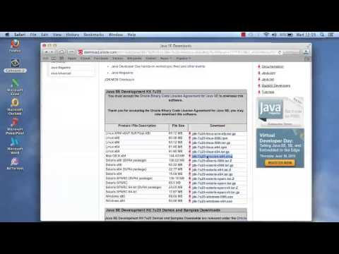 Installing Java JDK on  Apple Mac Operating System