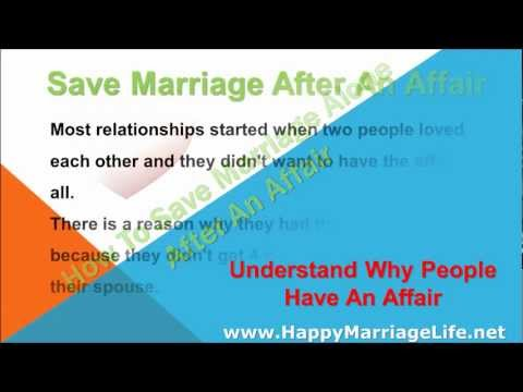 How To Save Marriage Alone After An Affair