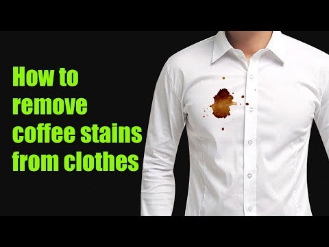 How to remove coffee stains from clothes