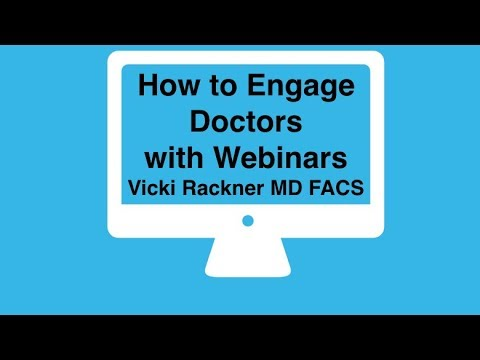 How to Engage Doctors with Webinars