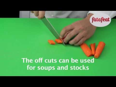 Lesson: Cutting carrots into diamond shapes - Fatafeat Academy - Fatafeat