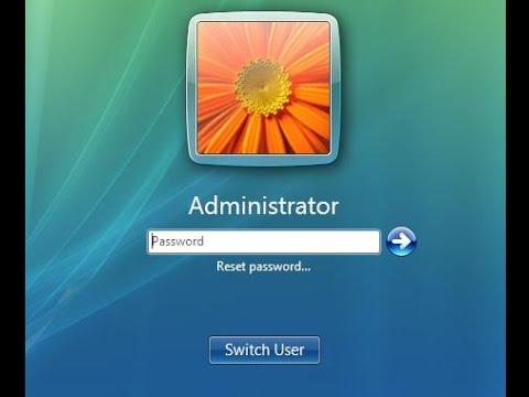 I Forgot My Windows Vista Password, How to Login