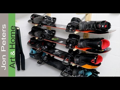 How to Build a  Snowboard Rack