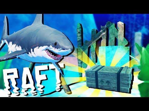 DISCOVERING the Deep Sea Treasure! - Raft Gameplay