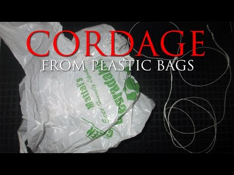 How To Make Cordage From Plastic Bags (shtf)