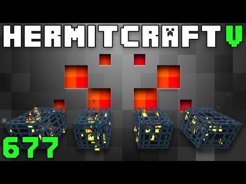 Hermitcraft V 677 Quad Spider Spawner Farm!