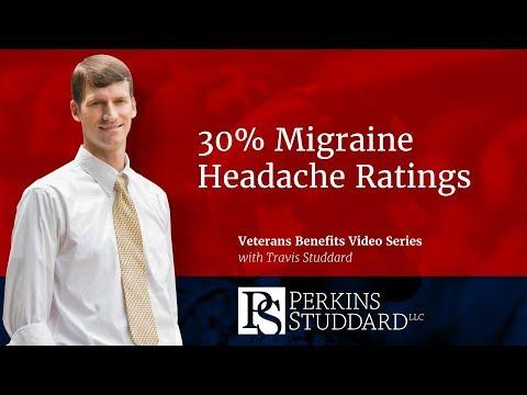 30% Migraine Headache VA Ratings