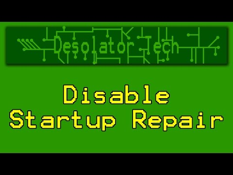 How To Prevent Automatic Startup Repair in Windows 7, 8, & 10