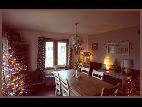 Speed Clean & Decorate with Me   The Dining Room   Christmas 2017