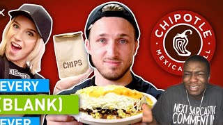 Reacting to EVERY CHIPOTLE EVER