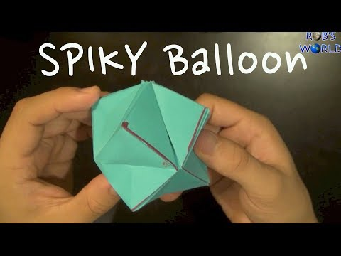How to Make an Origami Spiky Balloon!