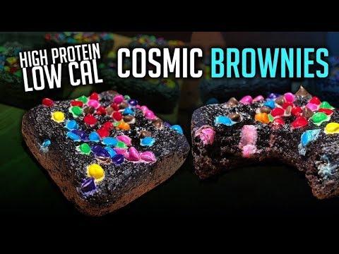Protein Cosmic Brownies Recipe | Only 55 Cals Per Brownie!