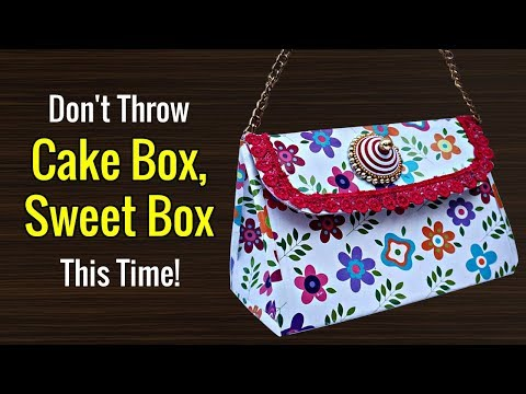 Best Out of Waste Craft Idea | Paper Handbag from Cardboard | Paper Purse Making at Home