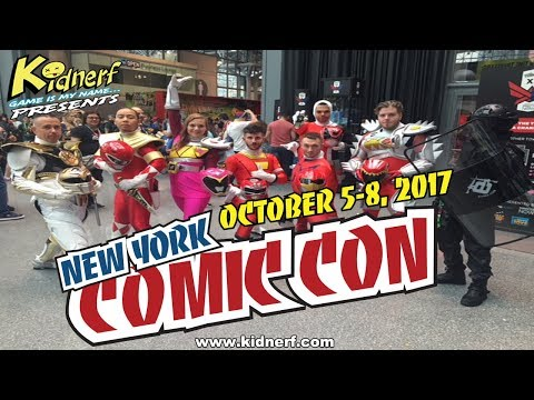NYC ComicCon 2017 (THE POWER RANGERS, SPIDERMAN AND MORE...)