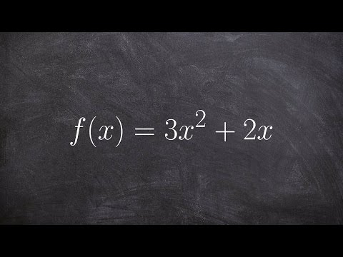 Simplifying the difference quotient of a quadratic function