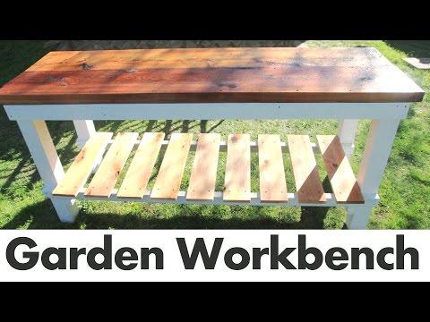DIY Outdoor Garden Work Bench