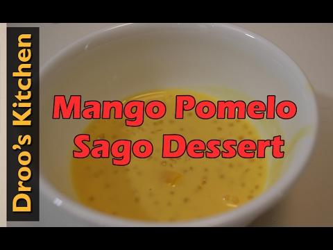 Making Mango Pomelo Sago Dessert Soup