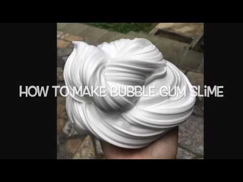 How to make bubblegum slime