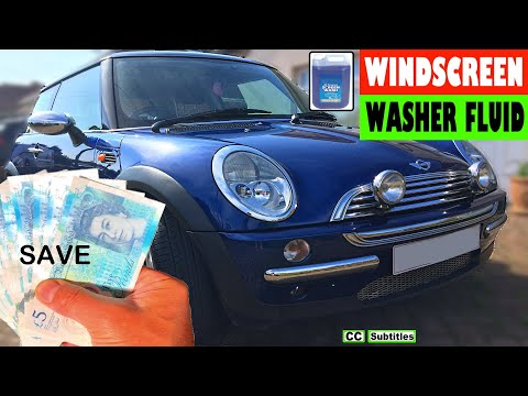 How to top up Windscreen Washer Fluid on Mini R50 R53 - Mini Screenwash Location