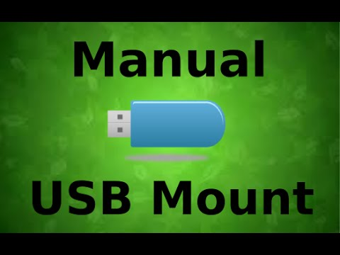 How To Force a USB mount (when not auto-mounting) in Linux Mint