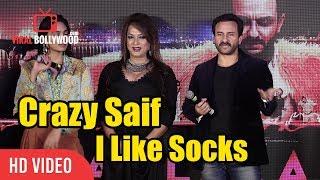 I Like Socks... CRAZY Saif | Saif Ali Khan Funny Moment With Media | Viralbollywood