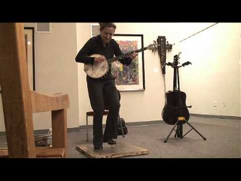 Aubrey Atwater simultaneous banjo and clogging