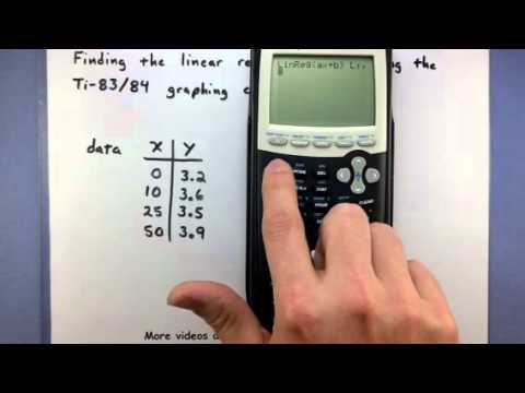 Pre-Calculus - Find the linear regression line using the TI-83/84 calculator (2)