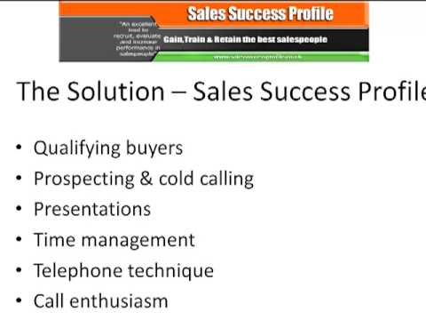 Improve your selling skills   Sales Success Profile