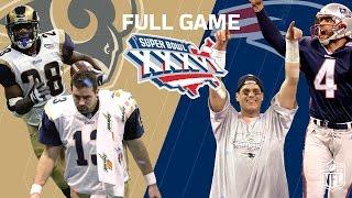 "Super Bowl XXXVI: ""Patriots Dynasty Begins"" | Rams vs. Patriots | NFL Full Game"
